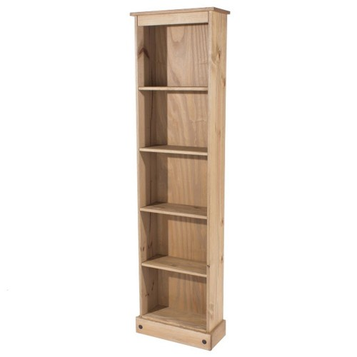 tall bookcase corona premium waxed pine