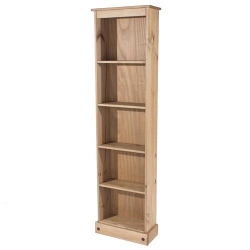 tall bookcase corona premium waxed pine