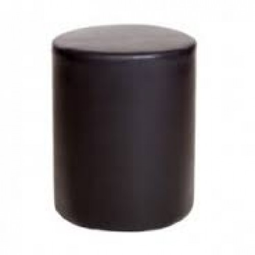 round stool in brown faux leather cotswold waxed pine