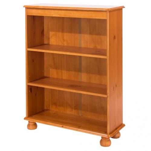 3 shelf bookcase antique pine