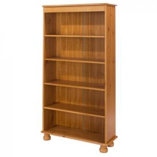 5 shelf bookcase antique pine