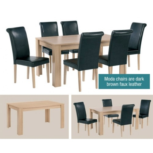 MODA DINING SET  (6 CHAIRS)