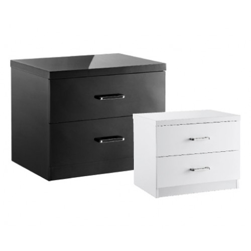 NOVELLO 2 DRAWER BEDSIDE CHEST