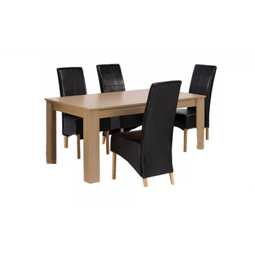 OAKFIELD DINING SET (4 CHAIRS)