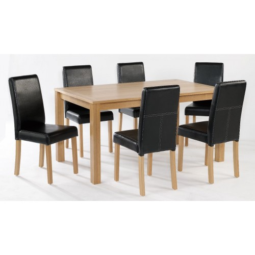 OAKRIDGE LARGE TABLE & 4 CHAIRS (SET)