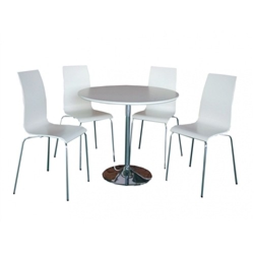 SOHO DINING SET WHITE (4 SEATER)