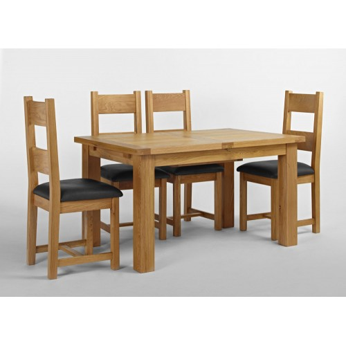 Santana Blonde Oak Dining Extension Table 140-200cm