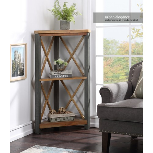 Urban Elegance - Reclaimed Small Corner Bookcase