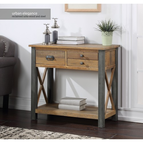 Urban Elegance - Reclaimed Small Console Table