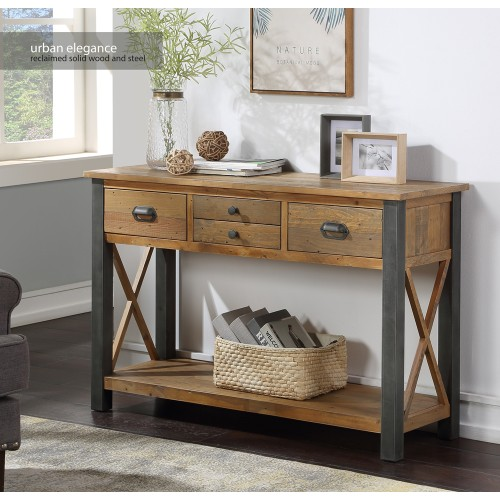 Urban Elegance - Reclaimed Console Table
