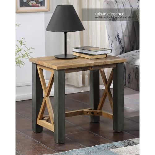 Urban Elegance - Reclaimed Open Front Side / Lamp Table