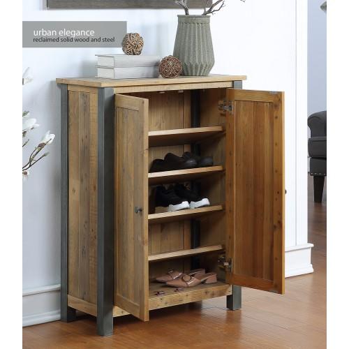 Urban Elegance - Reclaimed Large Shoe Storage Cupboard
