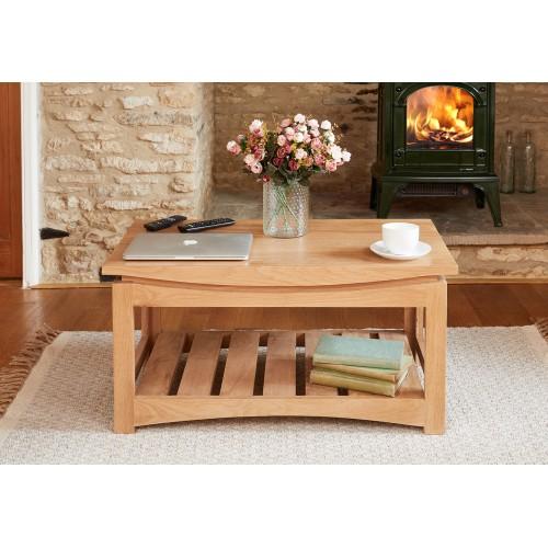 Roscoe Contemporary Oak Coffee Table