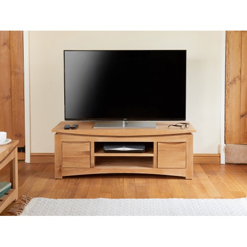 Roscoe Contemporary Oak Widescreen Television Cabinet