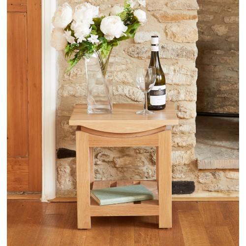Roscoe Contemporary Oak Lamp Table