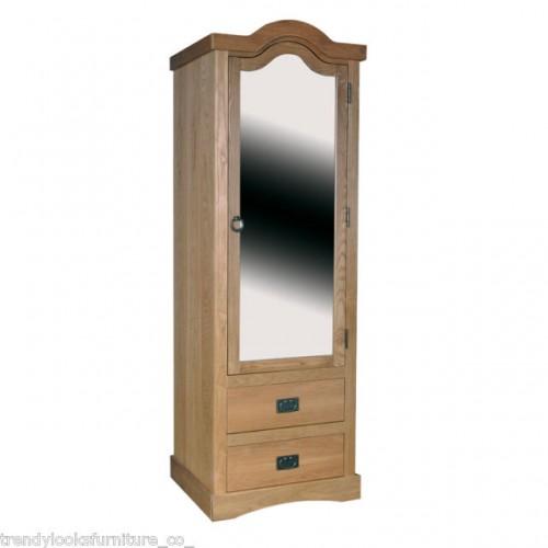 1 Mirrored Door, 2 Drawer Wardrobe Vermont