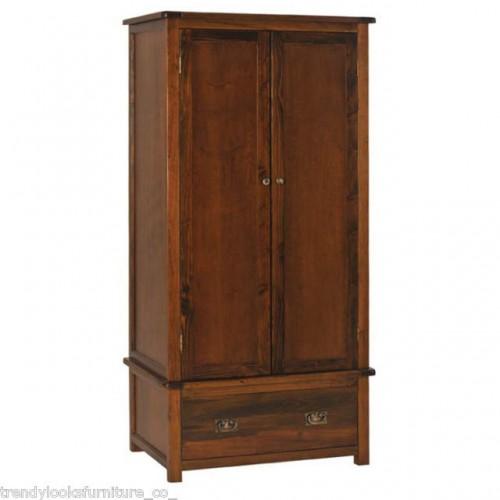 2 Door, 1 Drawer Wardrobe Boston Handcrafted