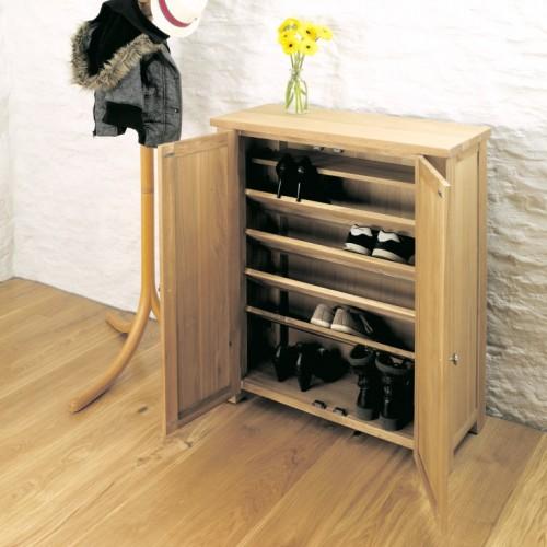 Aston Oak Shoe Cupboard
