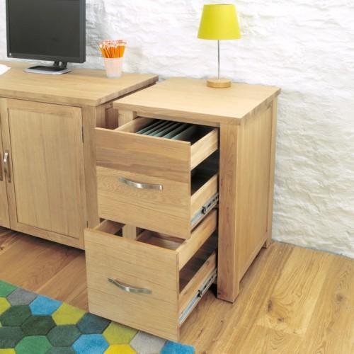 Aston Oak Two Drawer Filing Cabinet