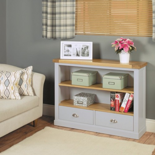 Chadwick Low Bookcase With Two Drawers