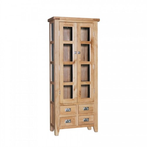 Elegance Oak Small Display Cabinet