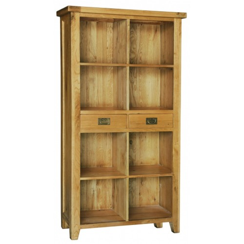 Provence Oak Bookcase with 2 Drawers