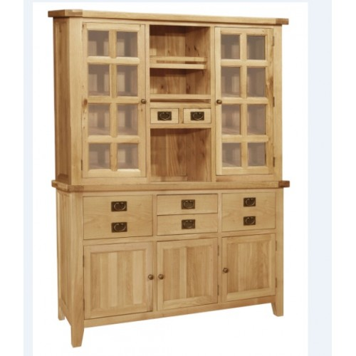 Provence Oak Dresser Base with Glazed Top