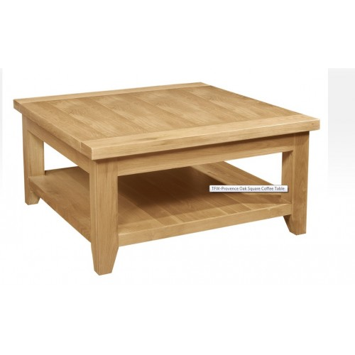 Provence Oak Square Coffee Table with Shelf