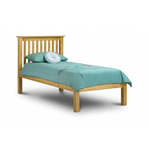 Barcelona Bed Low Foot End Pine 90cm Antique Finish