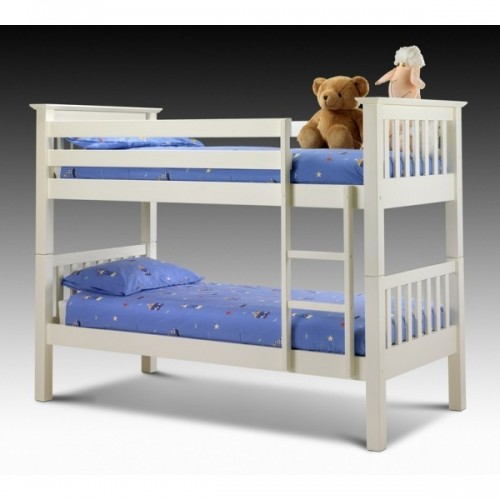 Barcelona Bunk Bed Stone White Finish