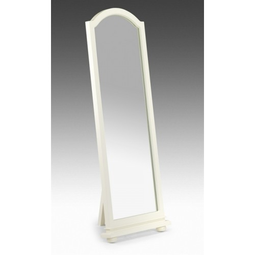 Josephine Cheval Mirror Stone White Finish