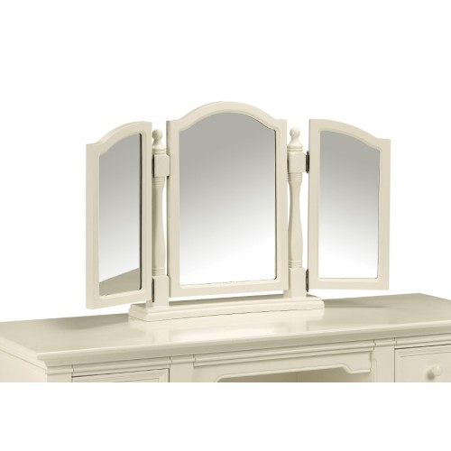 Josephine Triple Mirror Stone White Finish