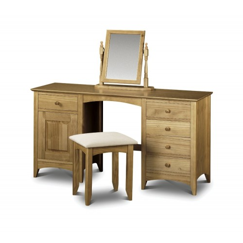 Kendal Twin Pedestal Dressing Table Solid Pine