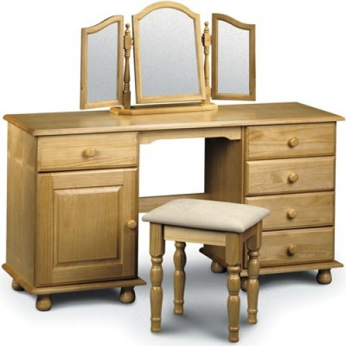 Pickwick Twin Pedestal Dressing Table Solid Pine