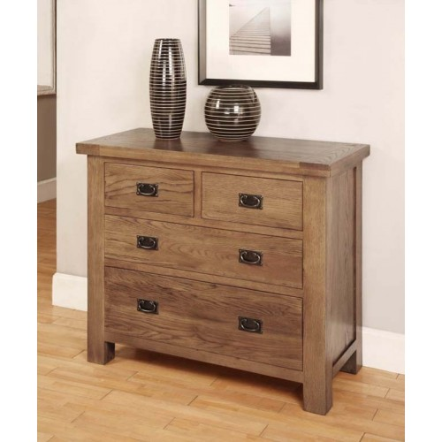 2 over 2 Chest of Drawers Rustic Oak