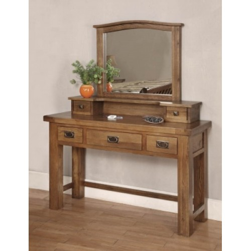 3 Drawer Dressing Table Rustic Oak