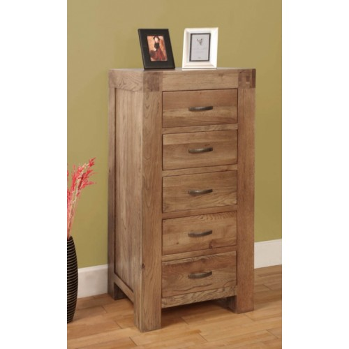 5 Drawer Wellington Chest of Drawers Rustic Oak
