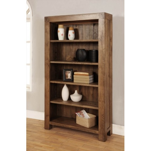 Bookcase with 4 adjustable shelves Rustic Oak