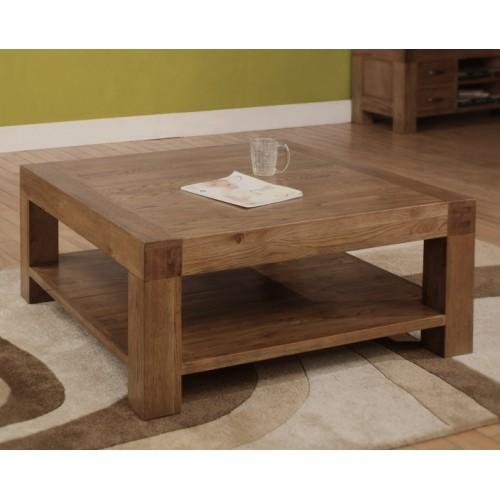 Coffee Table 1000mm x 1000mm Rustic Oak