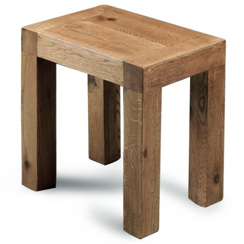 Dressing Table Stool Rustic Oak