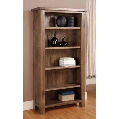 Tall Bookcase Rustic Oak