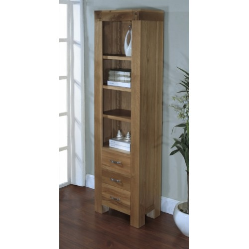 Slim Bookcase with 3 Drawers Satana Blonde