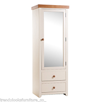 1 Mirrored Door, 2 Drawer Wardrobe Jamestown