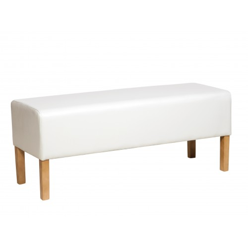 Bedseat In Cream Faux Leather  Milano Upholstered