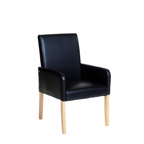 Occasional Chair In Brown Faux Leather  Milano Upholstered