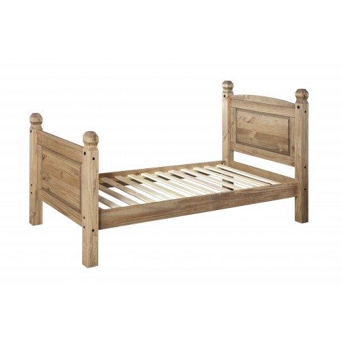 3ft high end bedstead Corona Waxed Pine