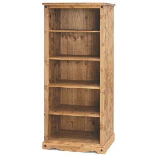 open bookcase Corona Waxed Pine