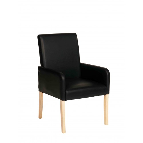 Occasional Chair In Black Faux Leather Milano