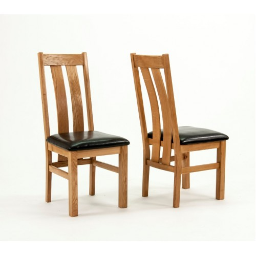 Devon Oak Arizona Dining Chairs - PAIR