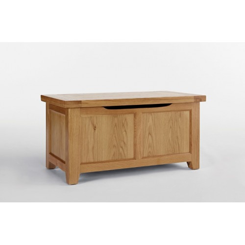 Devon Oak Blanket Box